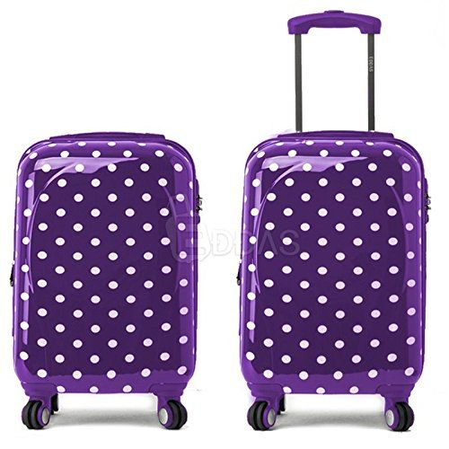 Purple Suitcases | Cute PURPLE Polka Dot Suitcase for Sale!