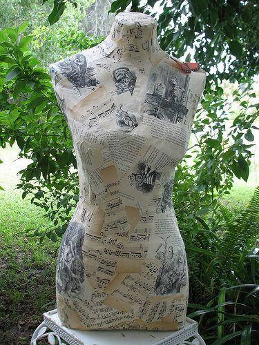 how to make a paper mache dress form