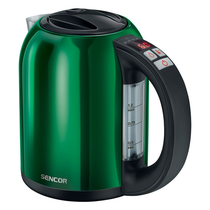 Sencor Smart electric Kettle with temperature control SWK 1272GR - Volume of 1.2 l - Electronic temperature control with setting adjustable - LED display with the current temperature continuously shown
