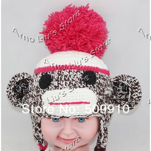 Free Crochet Pattern Sock Monkey Hat For Baby : monkey earflap hat crochet pattern free Sock Monkey Baby ...