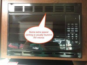 Jayco travel trailer microwave venting
