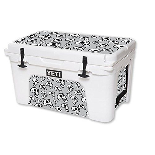 MightySkins Protective Vinyl Skin Decal for YETI Tundra 45 qt Cooler wrap cover sticker skins Laughing Skulls *** Read more reviews of the product by visiting the link on the image.(This is an Amazon affiliate link and I receive a commission for the sales)