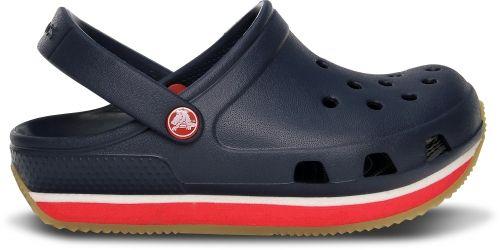 Crocs Retro Clog Kids Eine kleine Prise funky für die große Portion Spaß. Bei dieser Neuauflage unseres kultigen Crocs™-Clog haben wir uns von den trendigen Laufschuhen der 70er Jahre inspirieren lassen. Mit dem niedrigen Profil und dem sportlichen Design erfüllt Crocs Retro den lässigen Grundgedanken des Clog mit neuem Leben.