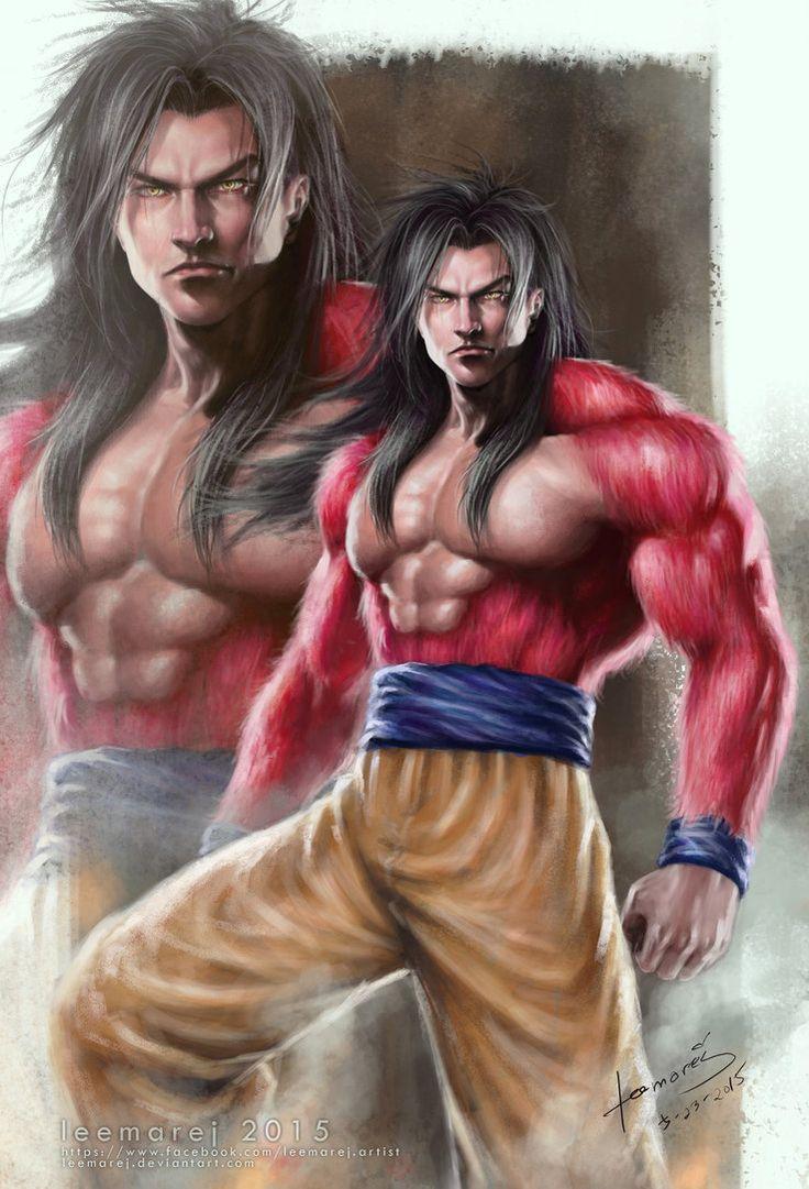 Goku Super Saiyan 4 Semi Realism by leemarej on DeviantArt