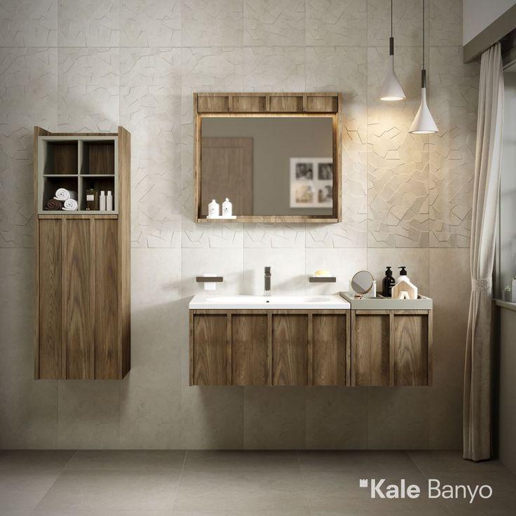 A'Design Award Ödüllü Crate banyo mobilyası, saten ve mat görünümlü yeni Wabi 'Iwa' serisi ile banyolarda şık bir ambiyans yaratıyor. Banyo Mobilyası: Crate Serisi Seramikler: Çanakkale Seramik Wabi Koleksiyonu