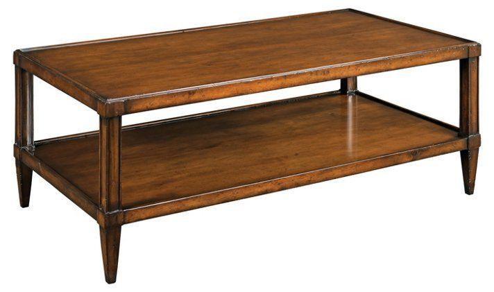 Elin 48 Coffee Table Chestnut Coffee Table Luxury Coffee