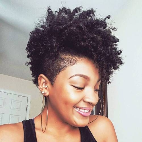 women's short mohawk haircut for natural hair