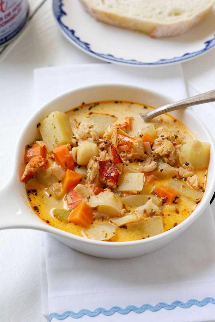 17 best images about food soups on pinterest chicken for Best fish chowder recipe