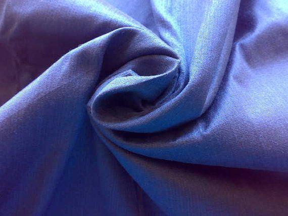 yale blue dupioni silk fabric quarter yard by raajma on etsy
