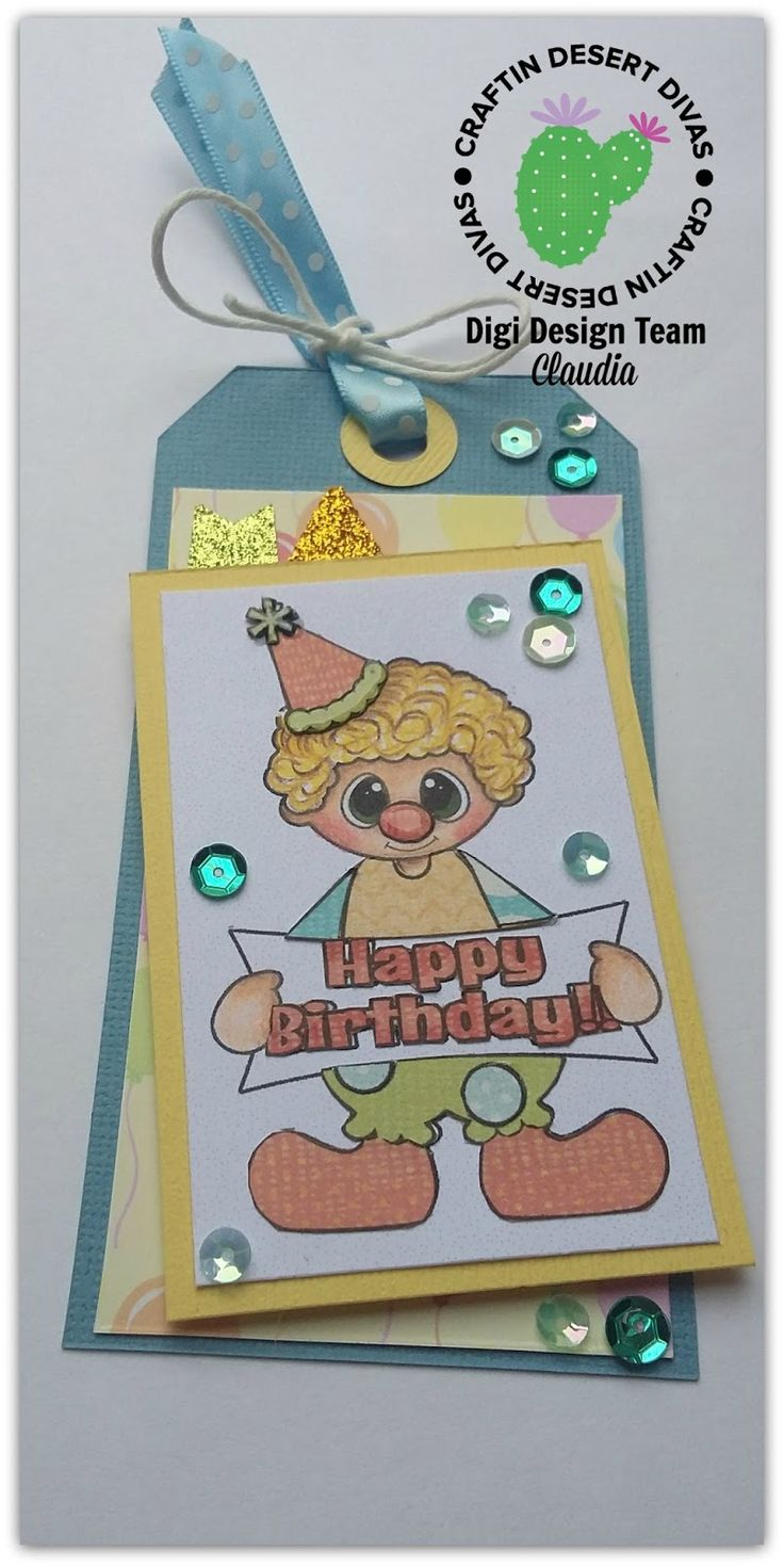 Ioscrap: Happy Birthday Clown_DT Craftin Desert Divas