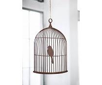 Ferm Living Vogelkooi bruin gesneden triplex 50x36cm, Birdcage mobile