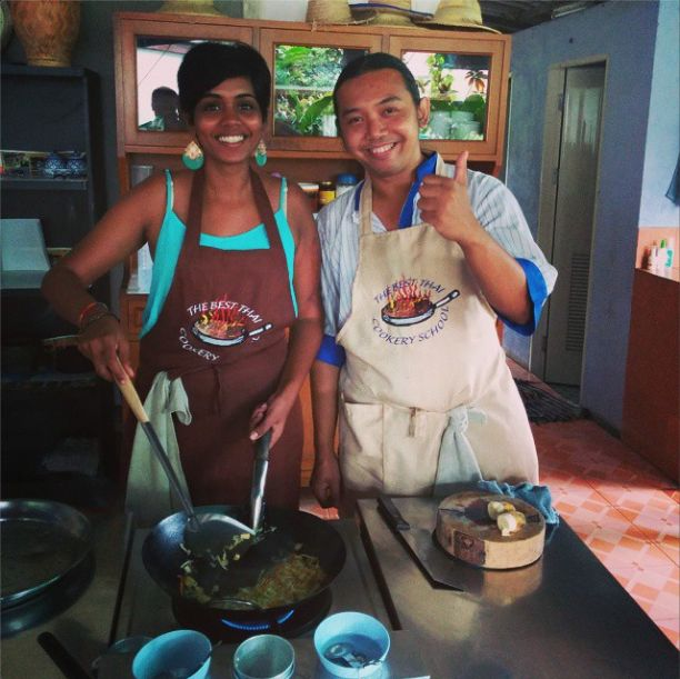 How about some #authentic #Thai #food now? Upaasna, after a day long grocery #shopping trip tried her hand at some chef-stuff!