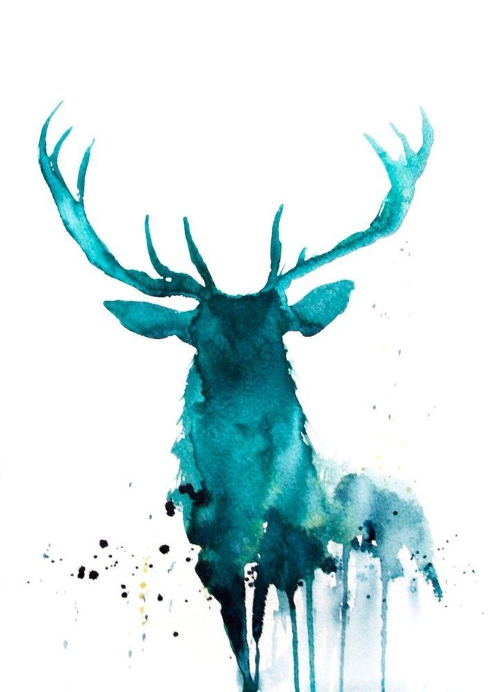 JEN BUCKLEY signed open EDITON PRINT of my original highland STAG