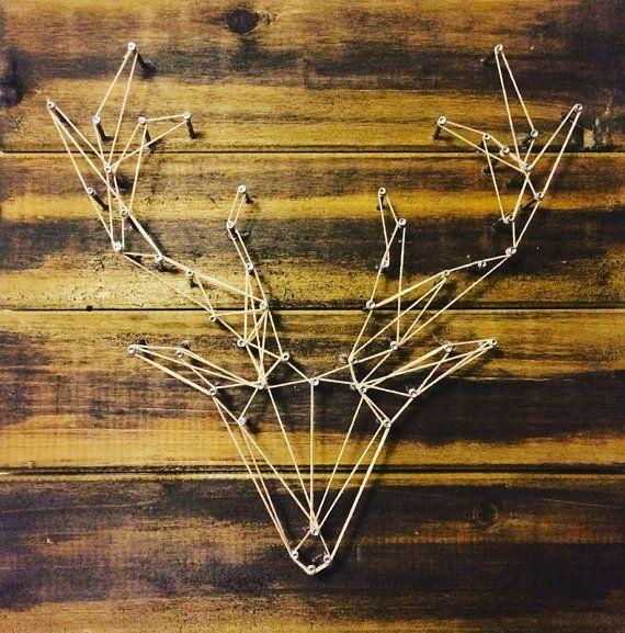 Cerf décor de cerf palette en bois String par BorrowedNewBlue