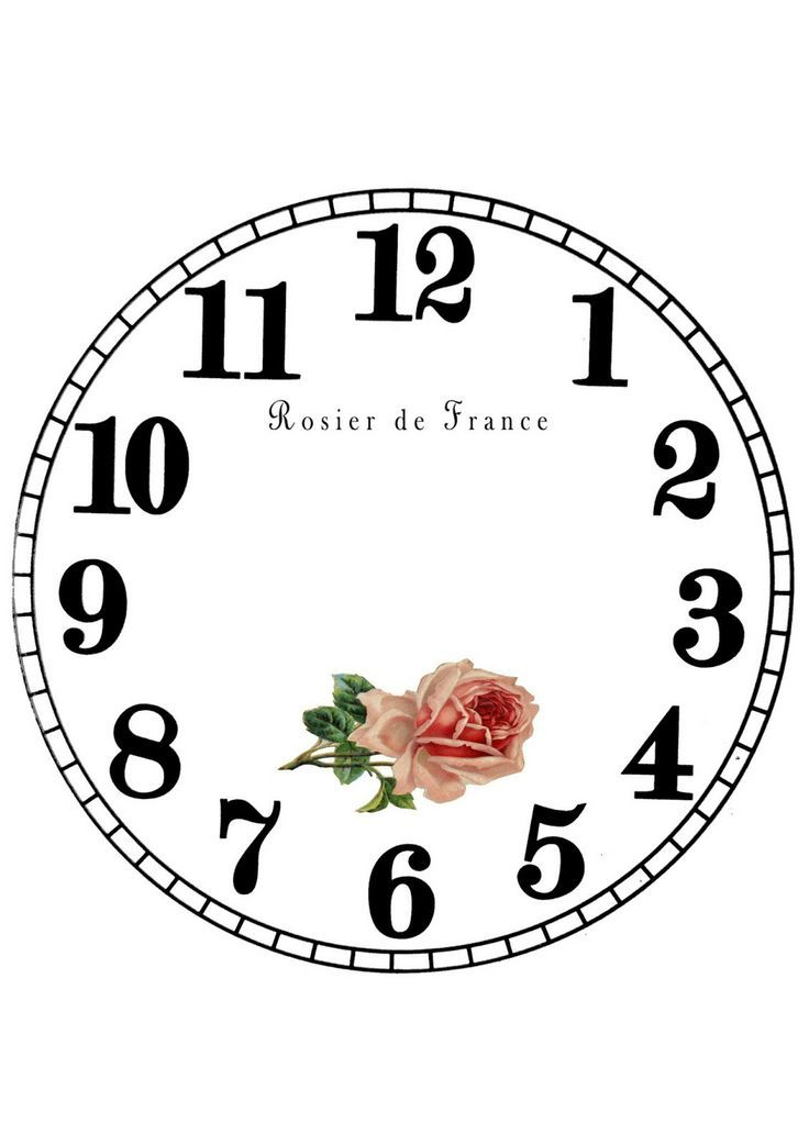 164 best laminas para relojes images on pinterest clock - Reloj pared vintage ...