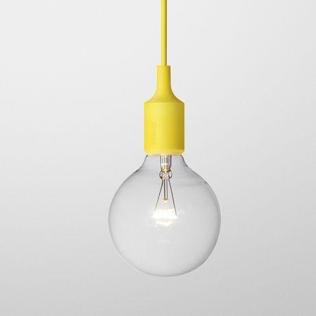 E27 yellowE27 - designerska lampa sufitowa wisząca.