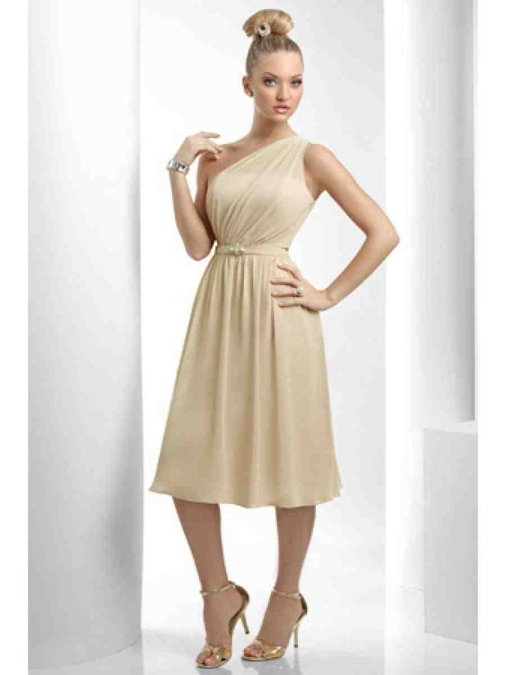 Champagne Gold Bridesmaid Dresses 1