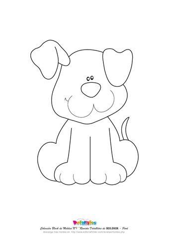 molde cachorro feltro