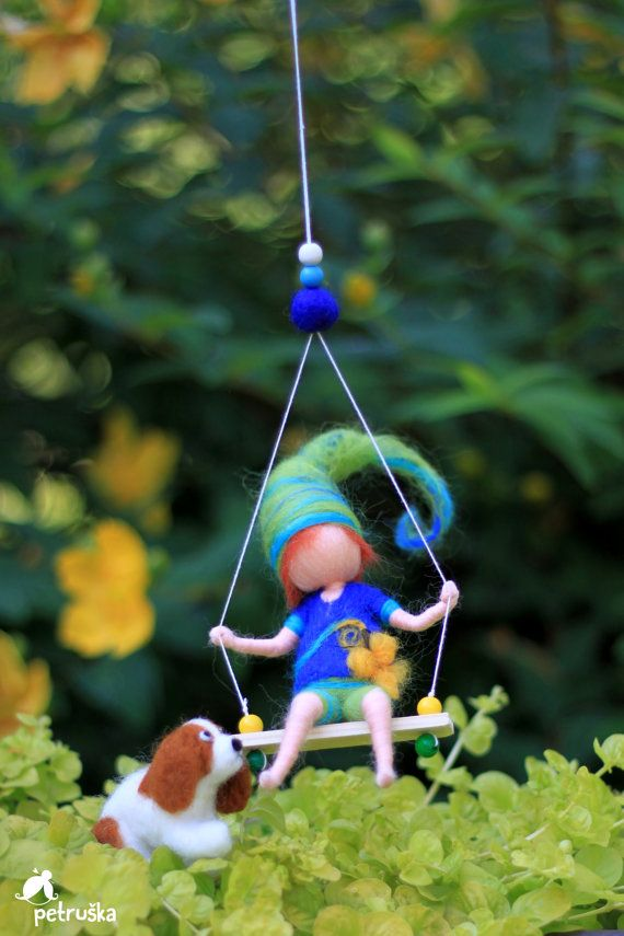 Cutest elf needle felted waldorf inspired von PETRUSKAfairyworld