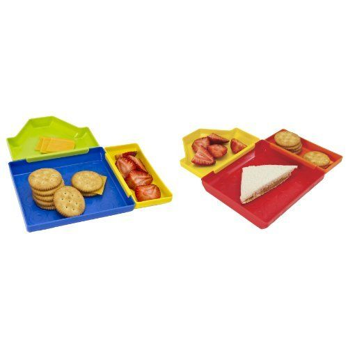 Evriholder 80078 Crayola Divided Plate Mates by Evriholder. $10.03. 3 containers for holding 3 separate meal servings. Interactive 3 piece design of these plates can be arranged in different shapes. Top rack dishwasher safe and bpa free. Easy to keep foods separate for picky eaters. Package includes 1 red and 1 blue set of plates. Interactive 3 piece design of these plates can be arranged in different shapes. 3 containers for holding 3 separate meal servings, making it e...