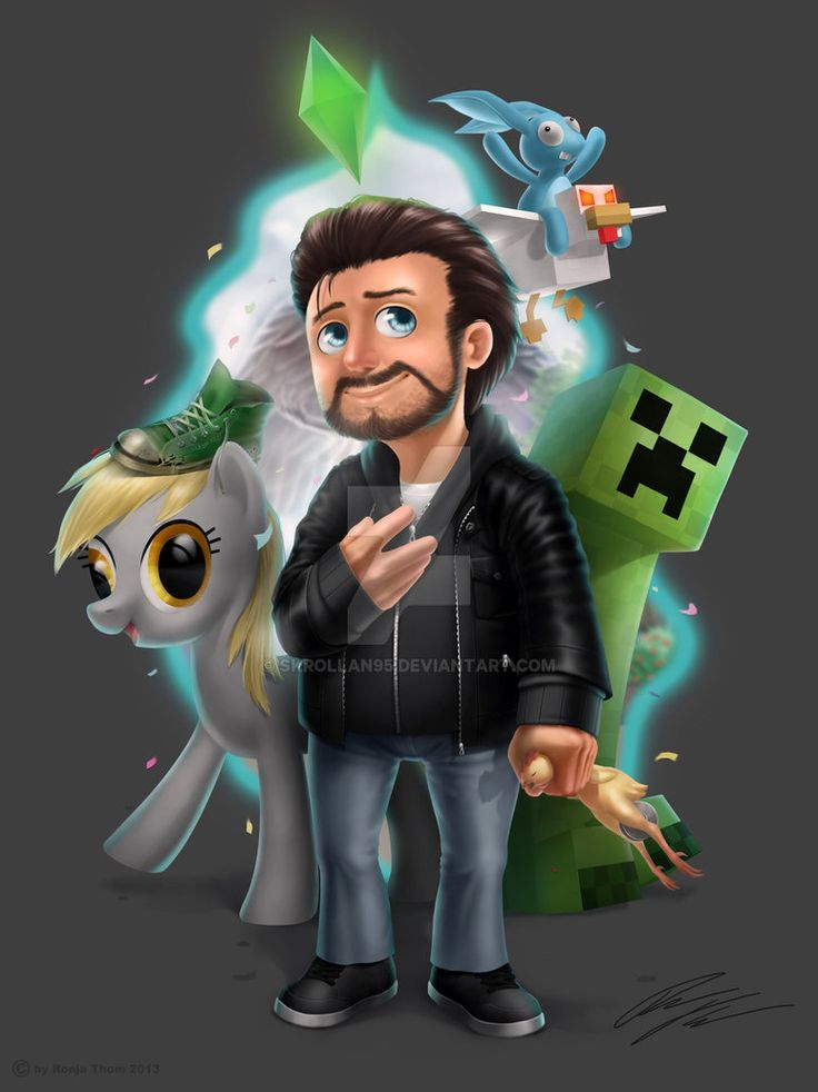"""Okay, this is the last one for today, i promise It's from 2013. For those who don't know, it was a Fanart for a german Youtuber called """"Gronkh"""". I uploaded it before on my old Deviantart account bu..."""