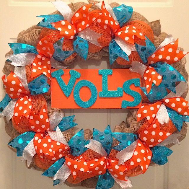 Lady Vols deco burlap/deco mesh wreath, UT Vols Wreath, Big Orange, Basketballl Time in Tennessee, Knoxville, Go Vols, VFL