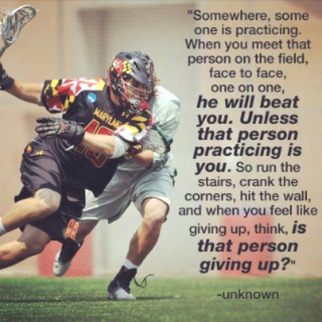 Motivational Quotes For Sports Teams: Lacrosse Quote