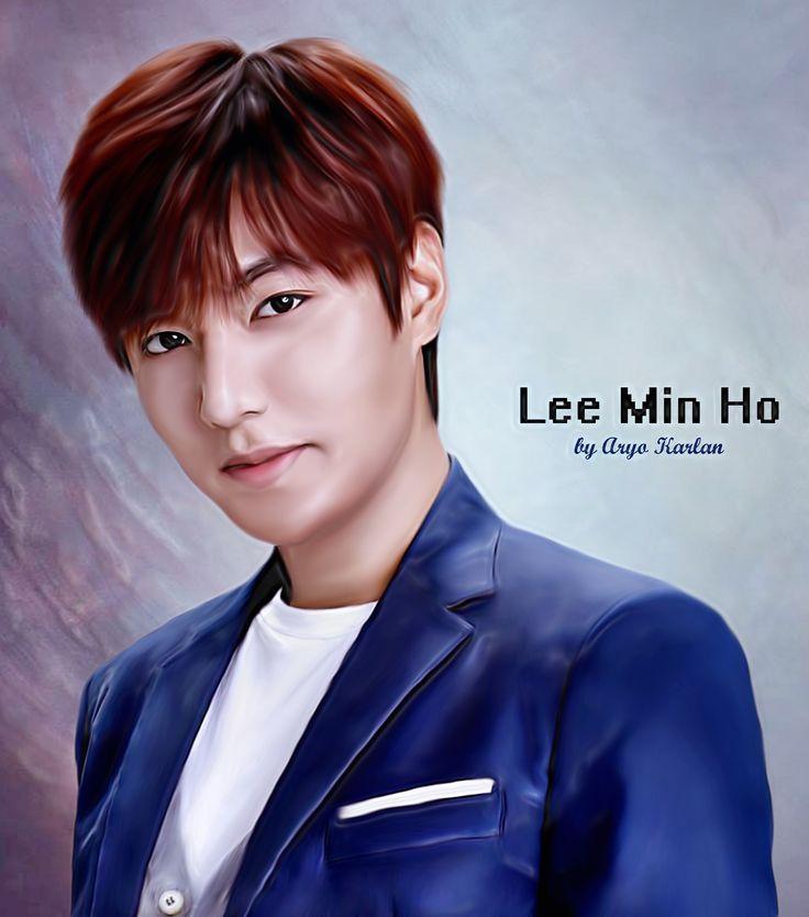 Lee Min Ho on Smudge Paint Photoshop CS5