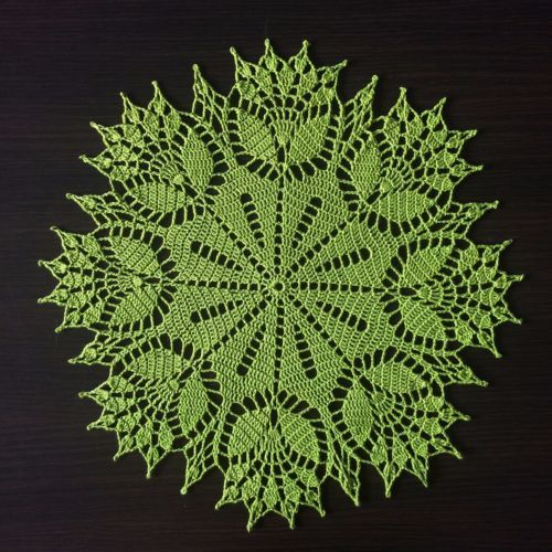 Springtime-Handmade-Crochet-Lace-Doily-Wall-Decoration-Tablecloth-Green