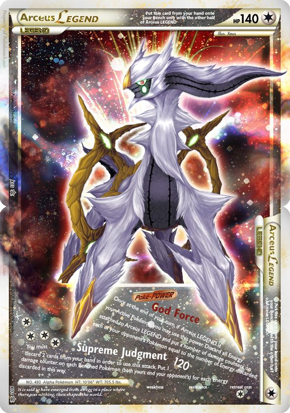 Legend Pokemon Cards | here is another great fake legend card arceus legend