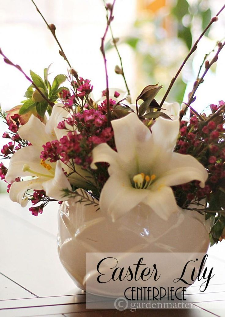 Learn about Easter lilies prevalent in the spring. Also a tip on an easy way to create a table centerpiece with them or any flowers.