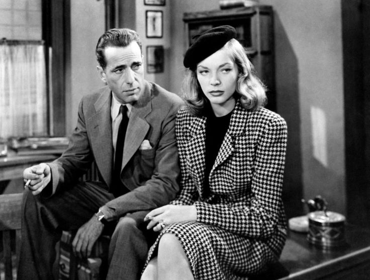 Lauren Bacall and Humphrey Bogart in The Big Sleep directed by Howard Hawks, 1946