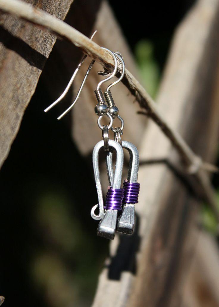 Short horseshoe nail earrings by LuckyHorseDesigns on Etsy, $12.00