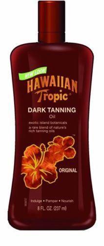 Hawaiian Tropic Dark Tanning Oil, 8-Fluid Ounce Bottles (Pack of 2)