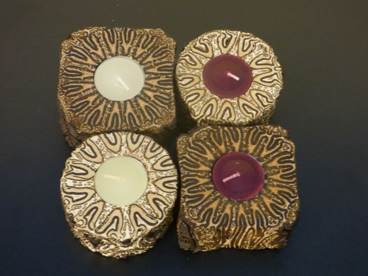 Buddy Tea Lights Square and Rustic & Smooth and Round in Vanilla and Cranberry