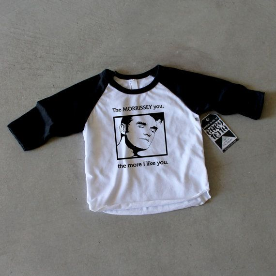 Morrissey Band Shirt for Baby Boy or Baby Girl the Smiths on American Apparel tee by BabyTeith, $25.00