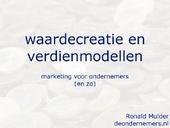 Top presentatie hoe een verdienmodel vorm te geven!