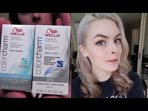 DIY Hair: How to Tone Blonde Hair with Wella Color Charm Toner - YouTube