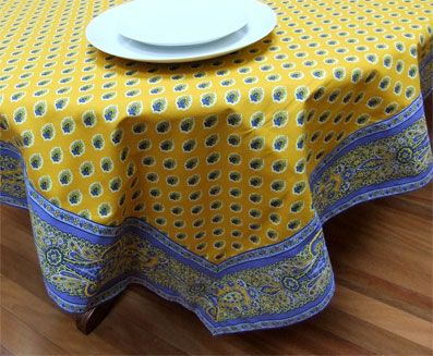 French Provencal Tablecloth With Border