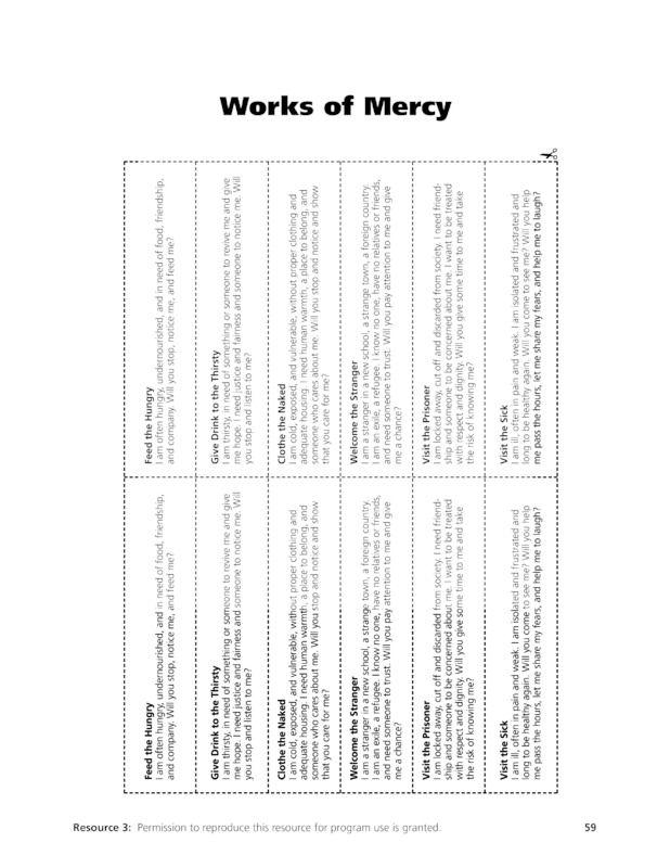 mercy works the hands on gospel saint mary 39 s press kindergarten pinterest the o 39 jays. Black Bedroom Furniture Sets. Home Design Ideas