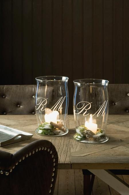 You could also use vases or even mason jars(Without etching it)