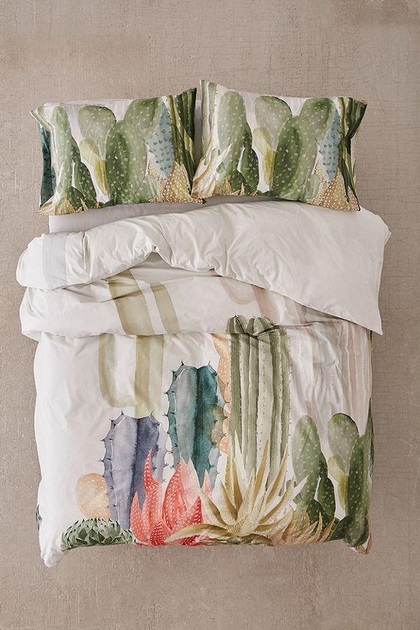AFFILIATELINK | Bettwäsche mit Kaktus-Print, skandinavisch, Design, minimalistisch   – Schlafzimmer einrichten | Ideen, DIY's & mehr