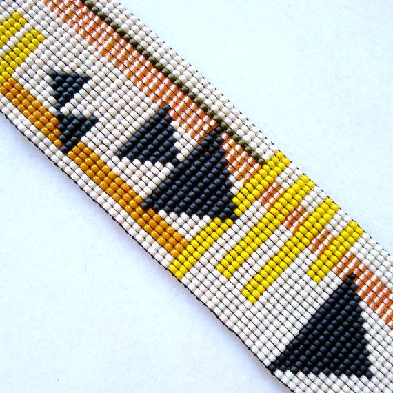 Fast Forward Beaded Cuff Bracelet  Beadwoven by WhereTheMoonGoes, $65.00