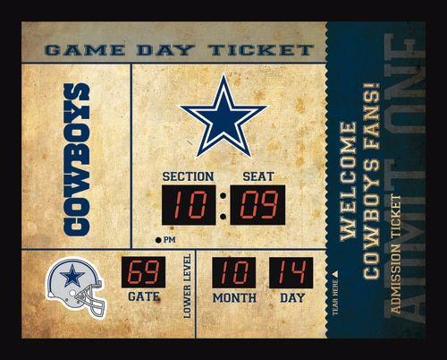 Dallas Cowboys Clock - 14x19 Scoreboard - Bluetooth