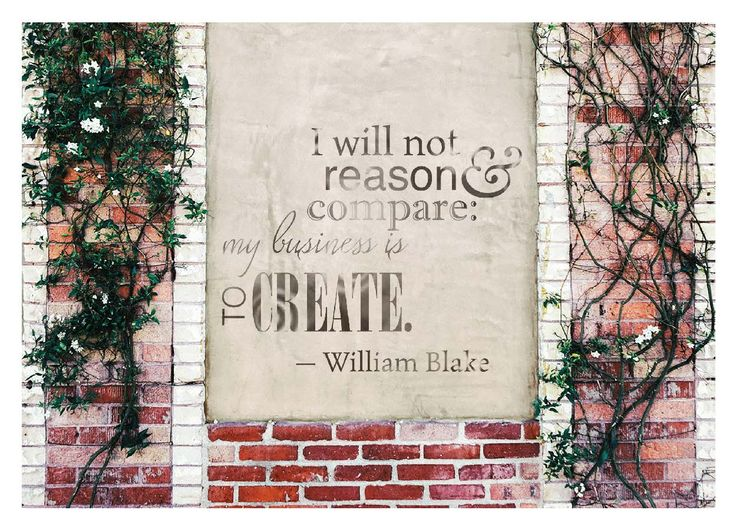 """""""I will not reason & compare: my business is to create"""" Card by Dusty Yurkin"""