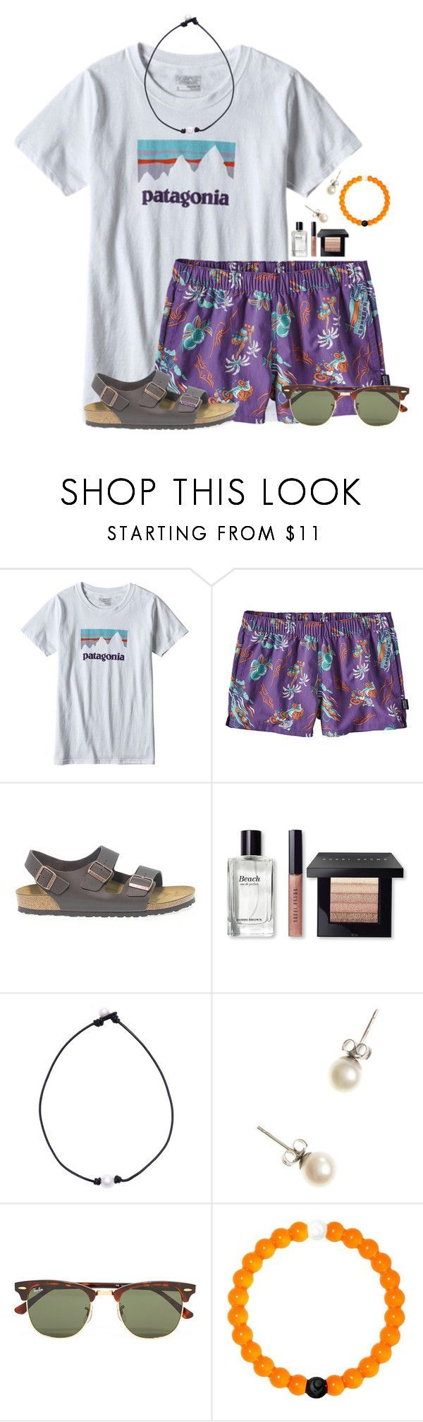 """""""I want some more Patagonia gear:)"""" by flroasburn on Polyvore featuring Patagonia, Birkenstock, Bobbi Brown Cosmetics, J.Crew, Ray-Ban and Lokai"""