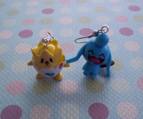 Cute Togepi and Wynaut Baby Pokemon Earrings by RainbowCastle, $8.99