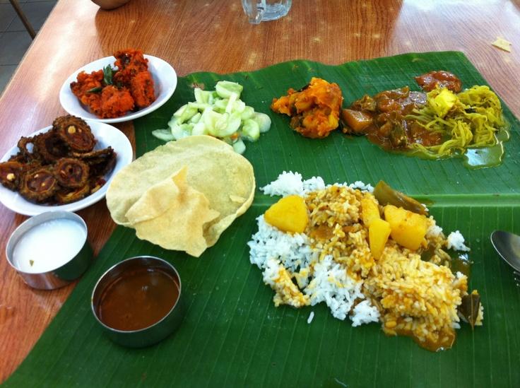 Banana leaf rice, insanely amazing!!!