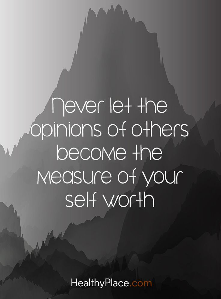 Quote on mental health stigma - Never let the options of others become the measure of your self worth.