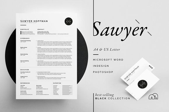 Resume Cv Sawyer Logos Retro Tumblr Bff Portfolio Web